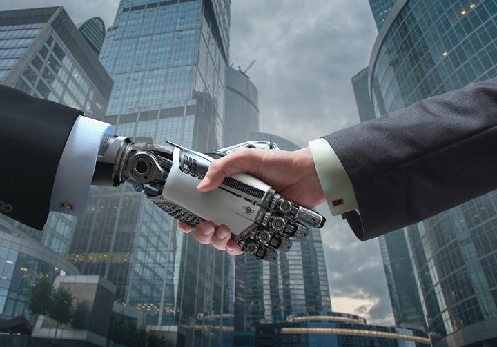 hand human and robot